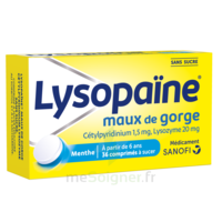 LysopaÏne Comprimés à Sucer Maux De Gorge Sans Sucre 2t/18 à PARIS