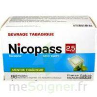 Nicopass 2,5 Mg Pastille Menthe Fraîcheur Sans Sucre Plq/96 à PARIS