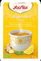 Yogi Tea Tisane Ayurvédique Gingembre Citron Bio 17 Sachets/1,8g à PARIS