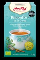 Yogi Tea Tisane Ayurvédique Réconfort De La Gorge Bio 17 Sachets/1,8g à PARIS
