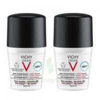 Vichy Homme Déodorant Anti-transpirant Anti Trace 48h 2*billes/50ml à PARIS